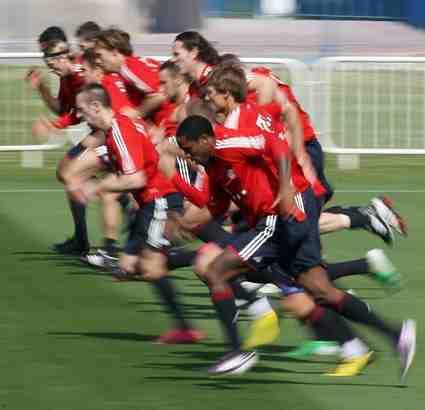 Fußball Schnelligkeit Training Bayern München