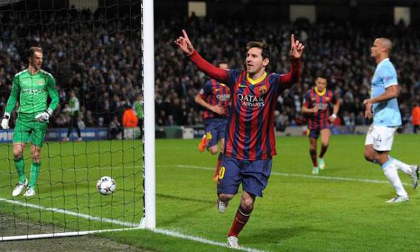Manchester City vs Barcelona: 1:0 Tor durch Messi