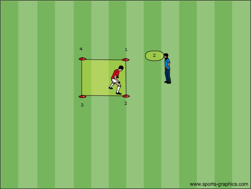 Fussballtraining Übung 1 Reaktion und Schnelligkeit