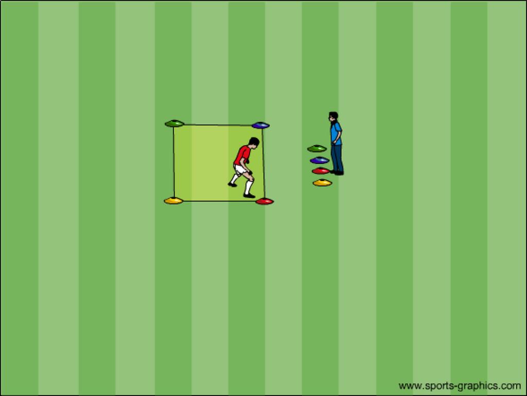 Fussballtraining Übung 2 Reaktion und Schnelligkeit
